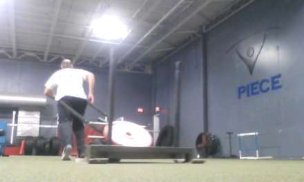 Spiece Sports Performance prowler sled pulling. Fort Wayne Fitness blog