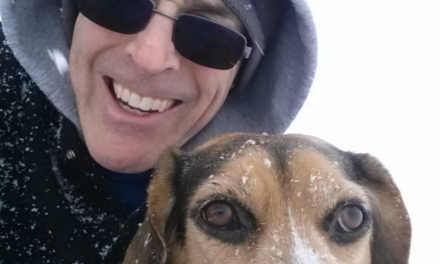 Winter snow walking with Duke. Fort Wayne Fitness Blog