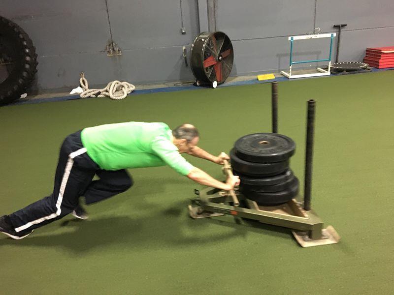 Spiece Fitness Sled pushing- Fort Wayne Fitness blog